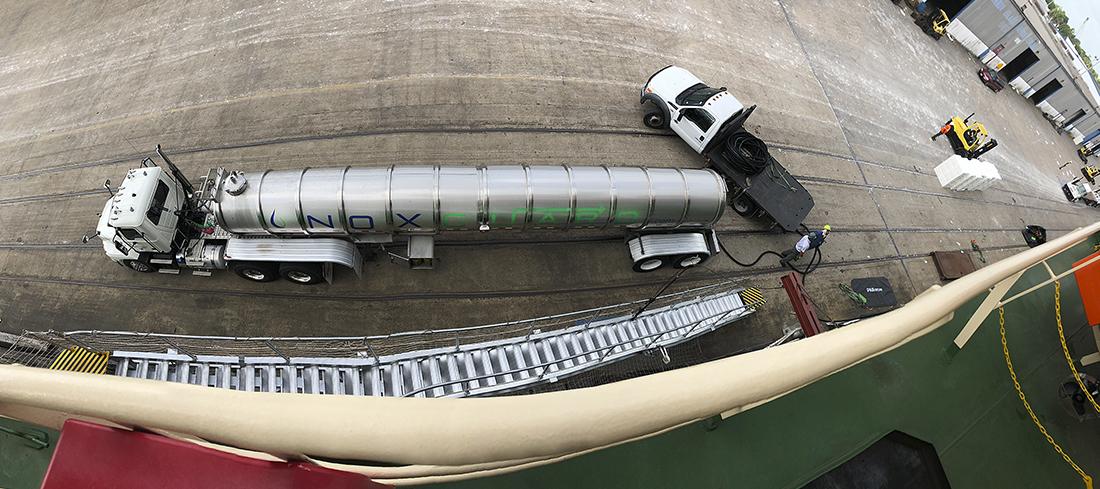 Noxguard Marine DEF Deliver (View from Vessel Deck))